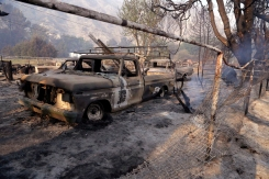 Calif. Wildfire Destroys Old West-Style Film Set