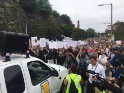 Thousands Protesting at Boston 'Free Speech' Rally
