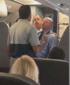 RAW: Altercation Erupts Between American Airlines Flight Attendant, Passengers