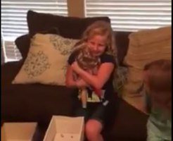 Girl Overjoyed to Get Doll With Leg Like Hers