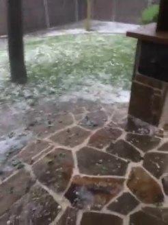 Hail and Heavy Rain in Frisco