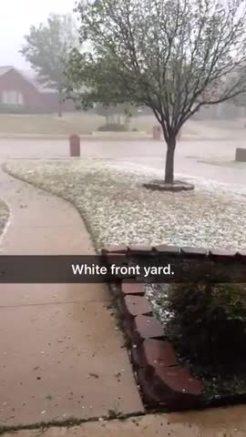 Hail storm in Murphy