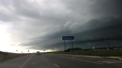 minutes before the storm in Royse City