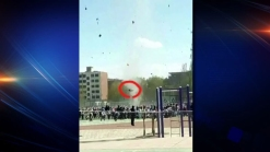 Dust Devil in China Throws Student Through the Air