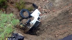 Washout Swallows Truck, Teen in Navarro County