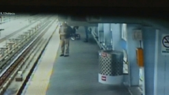 Dramatic Rescue of Baby on Train Tracks