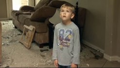 6-Year-Old Visits Home Damaged by Tornado