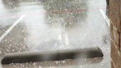 Hail in Denton Tx