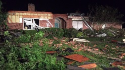 Suspected Tornado Leaves Damage in Grayson County