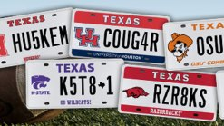 Vanity Plates to Be Auctioned in Houston