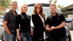 Clooney, Roberts Join Stefani for Carpool Karaoke