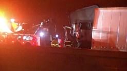 Crash Involving Two Semis Shuts Down I-35E in Dallas