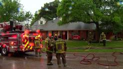 Lighting Strike Starts Fire at Dallas Home