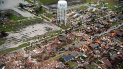 Evacuations Around Damaged Water Tower in Rowlett