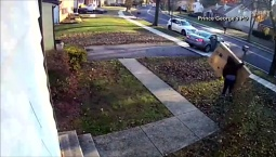 Video Shows Porch Pirate Steal TV