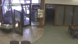 Oklahoma Woman Drives Into Bank