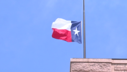 Raw Video: Flags Fly at Half Staff After Santa Fe Shooting
