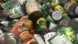Something Good: School Collects Cans for Families