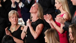 Trump Honors Widow of Slain Navy SEAL