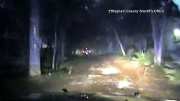 Dash Cam Video Shows Truck Plummet Into River