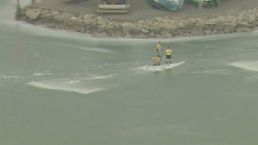 Fisherman Rescued From Icy Waters