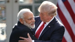 Trump and Modi Embrace