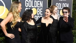 Stars Shine in Black for the 75th Golden Globes Red Carpet