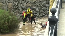 Man Rescued From Flood Waters