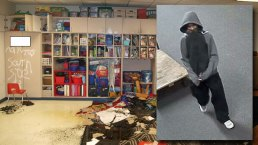 Man Sought in FW Elementary School Arson, Vandalism