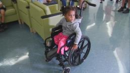 Toddler Takes First Steps Towards New Life