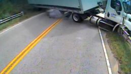 Video Shows Tractor-Trailer Collide with School Bus
