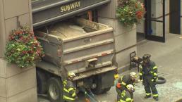 Dump Truck Crashes Into Subway Restaurant