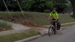Man Bikes Across Country to Help Kids