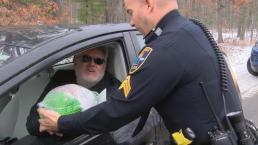 Cops Hand Out Turkeys Not Tickets