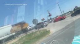 Caught on Cam: Train vs. Texas Sheriff's SUV