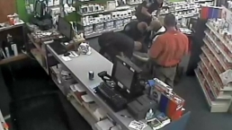 Police Take Down Murder Suspect: Caught On Cam