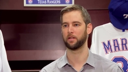 Rangers Introduce Chris Martin Raw Video