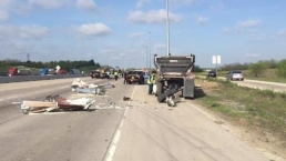 Crash Involving 2 Vehicles Shuts Down I-30