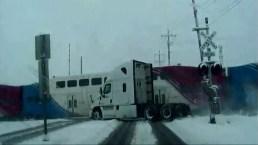 Train Vs Truck Caught on Video