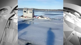 Truck Falls Through Ice Caught on Camera