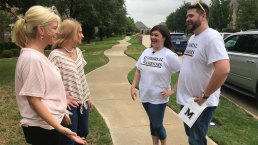 Frisco Teachers Go Door-to-Door Meeting Memorial High Students