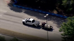 Raw: Police Chase Pickup From Dallas to Corinth