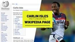 Carlin Isles Fact-Checks His Wikipedia Page