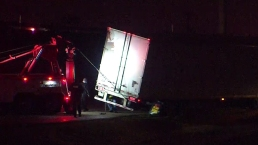Semi Wrecks, Closes Texas 360 Service Road