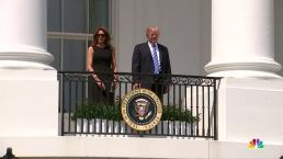 Trump Glimpses at Eclipse Before Donning Safety Glasses