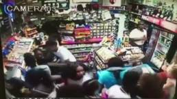 Security Cameras Show Mob Robbing Store
