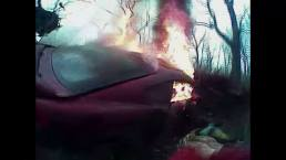Deputy Pulls Man from Fiery Crash