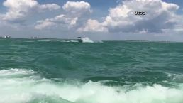 US Coast Guard Leaps Onto Runaway Boat