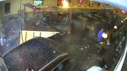 Car Slams Into Restaurant