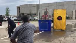 Watch As NBC 5 Weather Experts Get Dunked